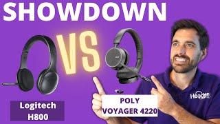 SHOWDOWN Logitech H800 vs Poly Voyager 4220 Wireless Headset - LIVE MIC TEST!