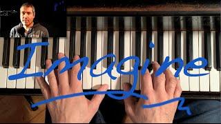 "How to really play ""Imagine"" by John Lennon piano tutorial - con subtítulos españoles opcionales"