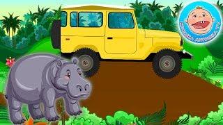 Голоса Диких Животных — Едем в джунгли на машинке.