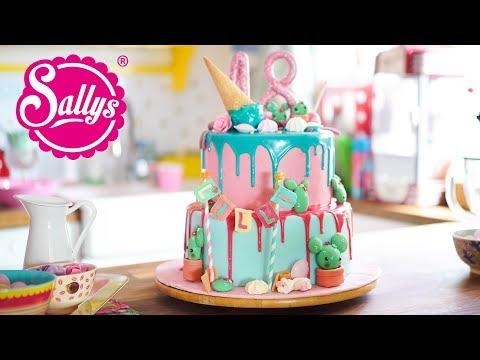 18th Birthday Cake / Geburtstagstorte zum 18. / Drip Cake / Sallys Welt