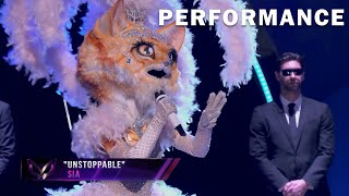 """Kitty sings """"Unstoppable"""" bySia   THE MASKED SINGER   SEASON 3"""
