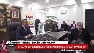 Ak Parti Seydişehir İlçe Teşkilatı Başkan Tutal'ı ziyaret etti
