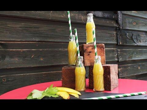 Receta de Smoothie de Mango, Miel, Apio y Jengibre
