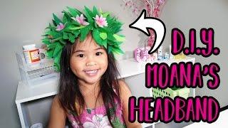 DIY Moana Headband | Flower Headband Craft | Moana Costume Party Ideas