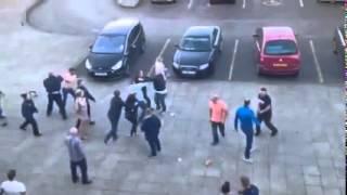 Mass brawl at Xscape Castleford (29/03/2015) | BBC Radio Leeds