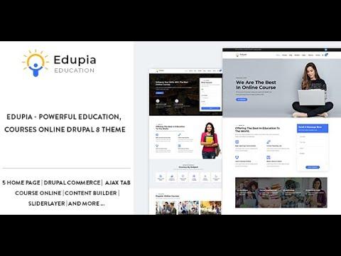 Edupia - Powerful Education, Courses Online Drupal 8 Theme ...