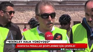 Konya'da pedallar şehitlerimiz için çevrildi