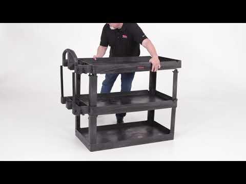 Product video for 4-Shelf Heavy-Duty Ergo Utility Cart