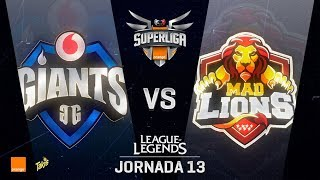 VODAFONE GIANTS VS MAD LIONS | Superliga Orange J13 | Partido 1 | Split Verano [2018]