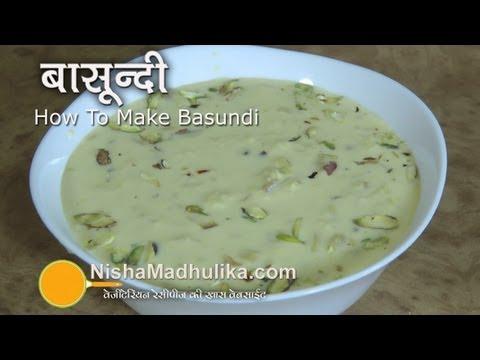 Basundi Recipe Video – How To Make Basundi – Basundi Receipe