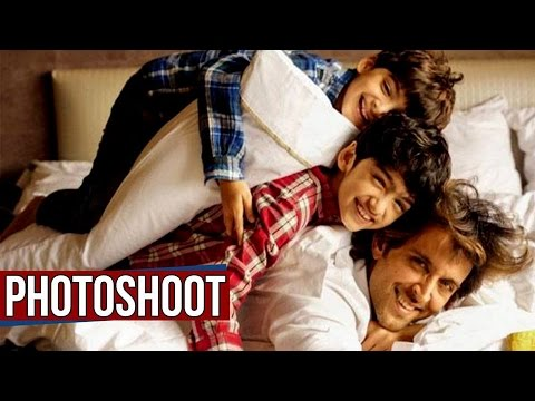 Hrithik Roshan's Cutest Photoshoot With Kids Hrehaan and Hridaan