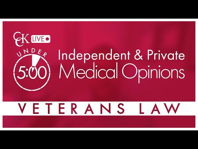 Independent Medical Opinion: VA Nexus Letter