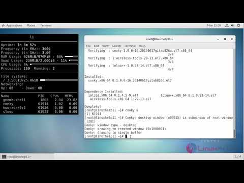 How to install Conky on CentOS 7 | LinuxHelp Tutorials
