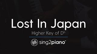 Lost In Japan (Higher Key Of Db   Piano Karaoke Instrumental) Shawn Mendes