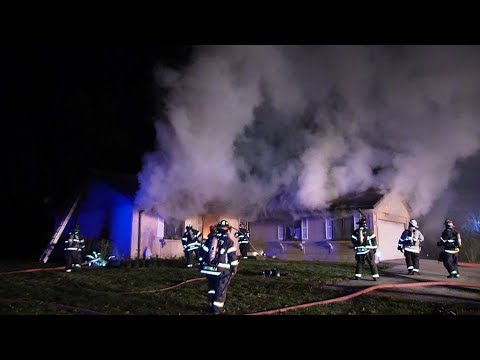 MABAS24 Tinley Park,IL Fire Department Box Alarm House Fire  11-10-17