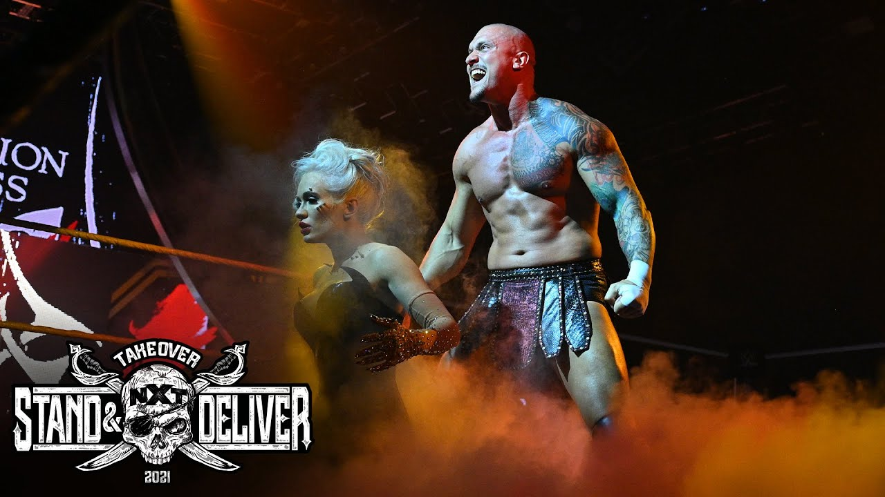 """Karrion Kross And Scarlett Make Their Entrance At """"Takeover: Stand And Deliver"""" Night Two"""