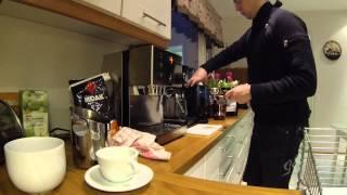 Doppio (double espresso) made by Rancilio Silvia