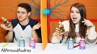 Twin Telepathy Slime Making Challenge With My Boyfriend