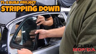 Acura Honda Classic TL Type-S Build Project - Window Trims and Door Handles Removal  (Episode 19)