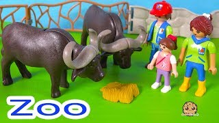 Valentines Day At the Zoo ! Playmobil Animal Help Cookie Swirl C Play Video