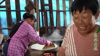 東北大龍248:三姐妹一起做美食,東北特色大煎餅,地道的農村做法