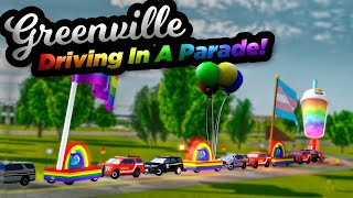 DRIVING IN A PARADE FLOAT IN GREENVILLE! | OGVRP Pride Parade