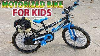 Build a Motorized Bike Using Grass Cutter 2-Stroke Engine - Tutorial