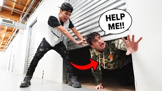 I Trapped My Twin Brother in a Storage Unit For 24 Hours!