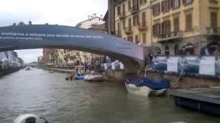 preview picture of video 'Navigli boat trip in Milans Venice'