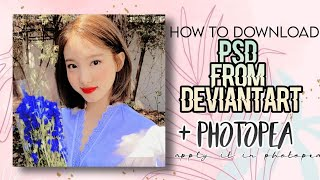 ੈ✩‧₊˚how To Download Psd From Deviantart + How To Apply Psd In Photopea