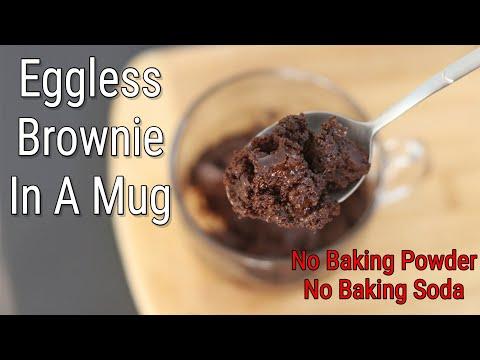 Brownie In A Mug – Eggless Brownie Recipe – No Baking Powder/No Baking Soda – Vegan | Skinny Recipes