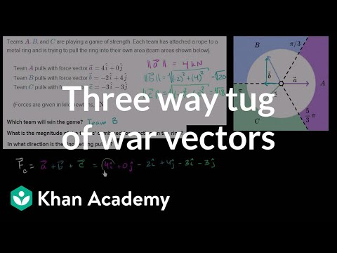 Vectors word problem: tug of war (video) | Khan Academy