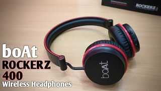 BoAt Rockerz 400 On-Ear Wireless Bluetooth Headphones Unboxing & Review In Hindi