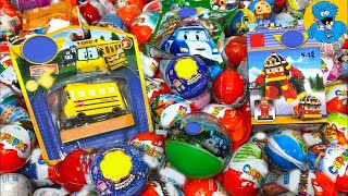 Киндер Сюрпризы,A Lot Of Candy and Kinder Surprise Eggs Робокар Поли,Robocar Poli,Сказочный Патруль