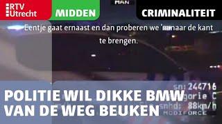 Politie wil dikke BMW van de weg beuken in Utrecht | RTV Utrecht