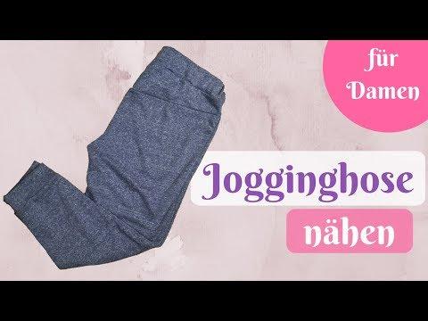Jogginghose / Kuschelhose / Yogahose nähen - Nähanleitung für Anfänger mit kostenlosem Schnittmuster