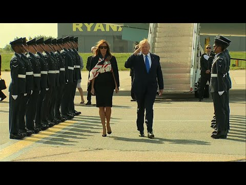 U.S. President Donald Trump has arrived in the U.K. on the first leg of a trip that will include commemorating the 75th anniversary of D-Day during a ceremony at the Normandy American Cemetery in France. (June 3)