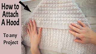 How to attach a Hood / How to crochet a hood for beginners