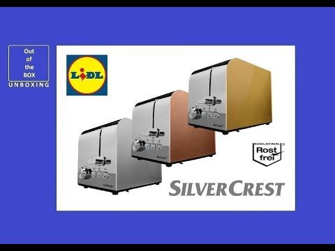 SilverCrest Toaster STS 850 D1 UNBOXING (Lidl 850 W B 29 x H 19 x T 17 cm)