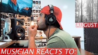 """Musician Reacts To: """"august"""" by Taylor Swift"""