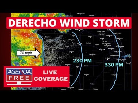 Derecho Wind Storm Approaching Chicago – LIVE BREAKING NEWS COVERAGE