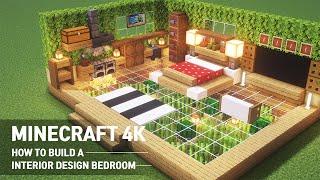 Minecraft 4k : How To Build A Interior Design Bedroom & Kitchen In Minecraft #80