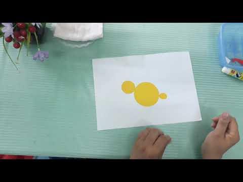Cô Hảo trường mn An Ninh với hoạt động tạo hình : Dán con gà từ những hình học