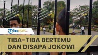 Seorang Pemuda Kaget Tiba-tiba Disapa Presiden Jokowi saat Bikin Vlog, Keramahan Jokowi Jadi Sorotan