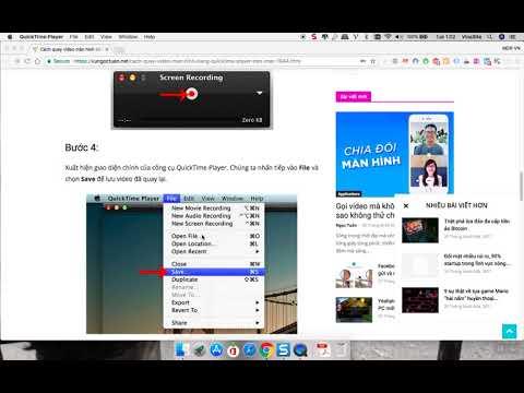 Hướng dẫn quay màn hình macbook