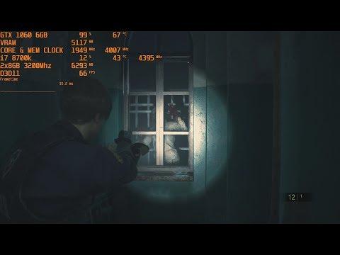 Resident Evil 2 GTX 1060 OC | 1080p | FRAME-RATE TEST - смотреть