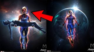 Avengers EndGame How Captain Marvel Saves Tony Stark REVEALED! Marvel LIES ABOUT Avengers 4!