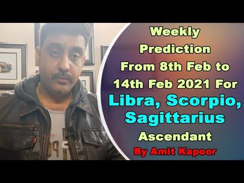 Weekly Prediction From 8th Feb to 14th Feb 2021 For Libra, Scorpio, Sagittarius Ascendant In English