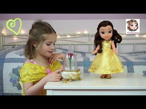 DIE SCHÖNE UND DAS BIEST 🌹 Puppe Belle und Schmuckdose mit Musik ♫ Disney Beauty and the Beast