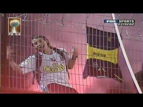 """Salida de Colo-Colo vs boca por FoxSports"" Barra: Garra Blanca • Club: Colo-Colo"